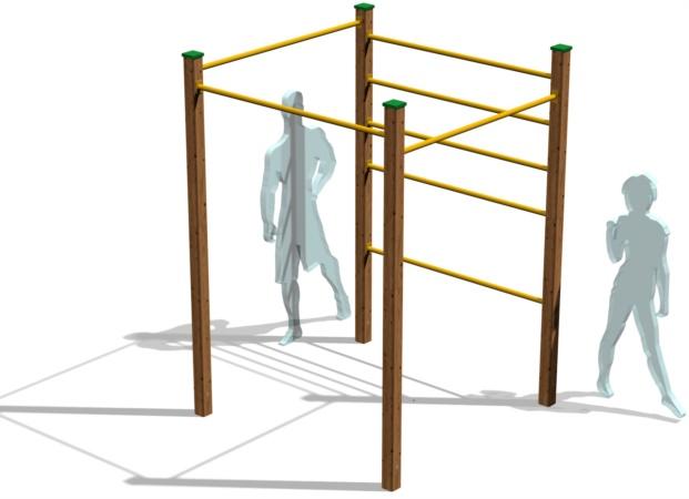 attrezzature callisteniche e per l'workout outdoor